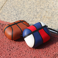 Custodia per Airpods Pro custodia pallacanestro in pelle per Air pod 3 pelle protettiva per Apple Airpods Pro Cover Coque