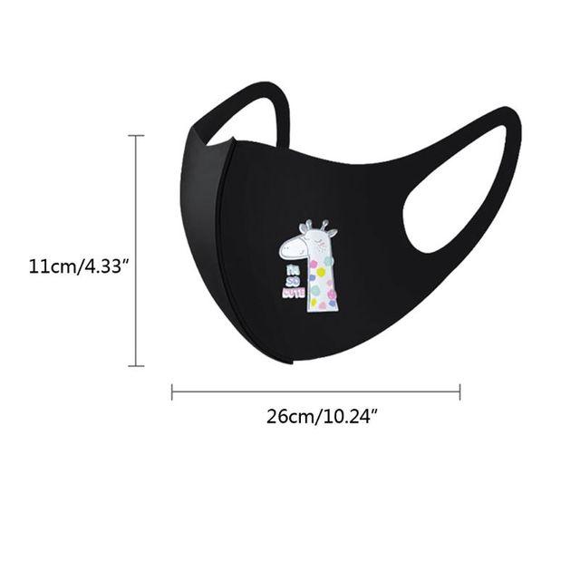 10Pcs PM2.5 Kid Reusable Anti Flu Face Mask Breathable Washable Sponge Dustproor Mouth Mask Random Pattern for Children 5