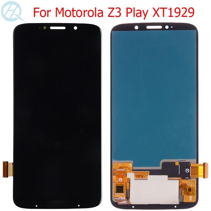 Оригинальный AMOLED ЖК-дисплей для Motorola Z3 Play, сенсорный экран 6,01 дюйма Moto Z3 Play xtзакладки, ЖК-экран, панель в сборе