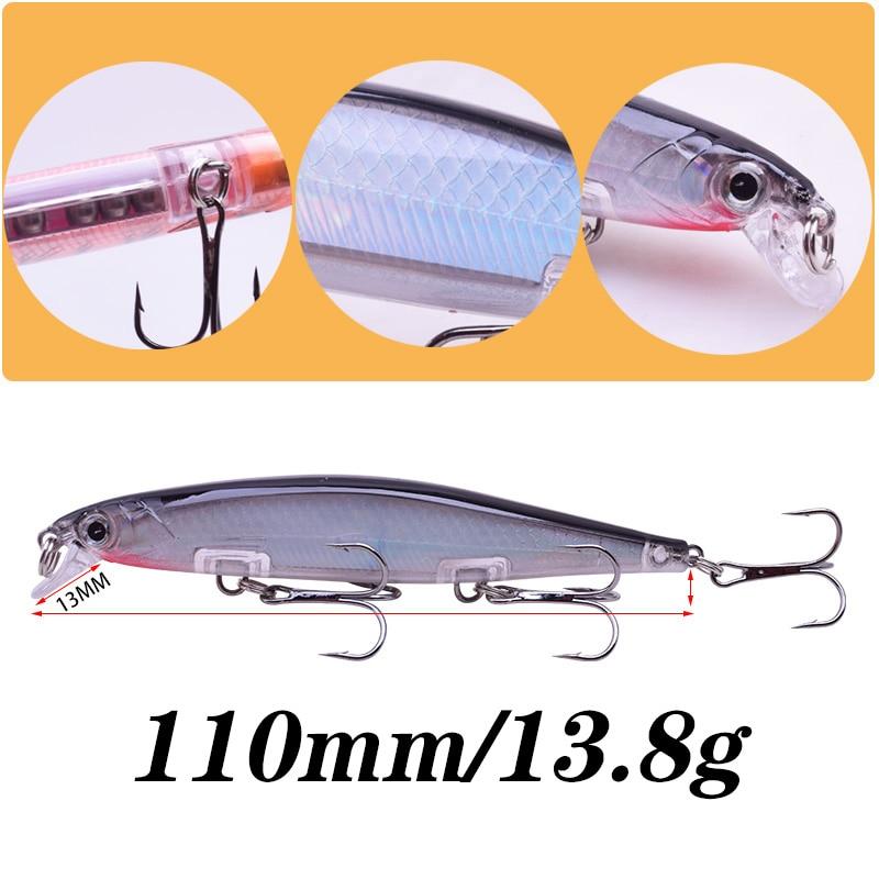 Бренд Proleurre Лазерная пластиковая рыболовная приманка для гольяна 110 мм 13,8 г Медленно тонущие воблеры 3D глаза Искусственная жесткая приманка Судак Карп Swimbait Рыболовные снасти Pesca 3