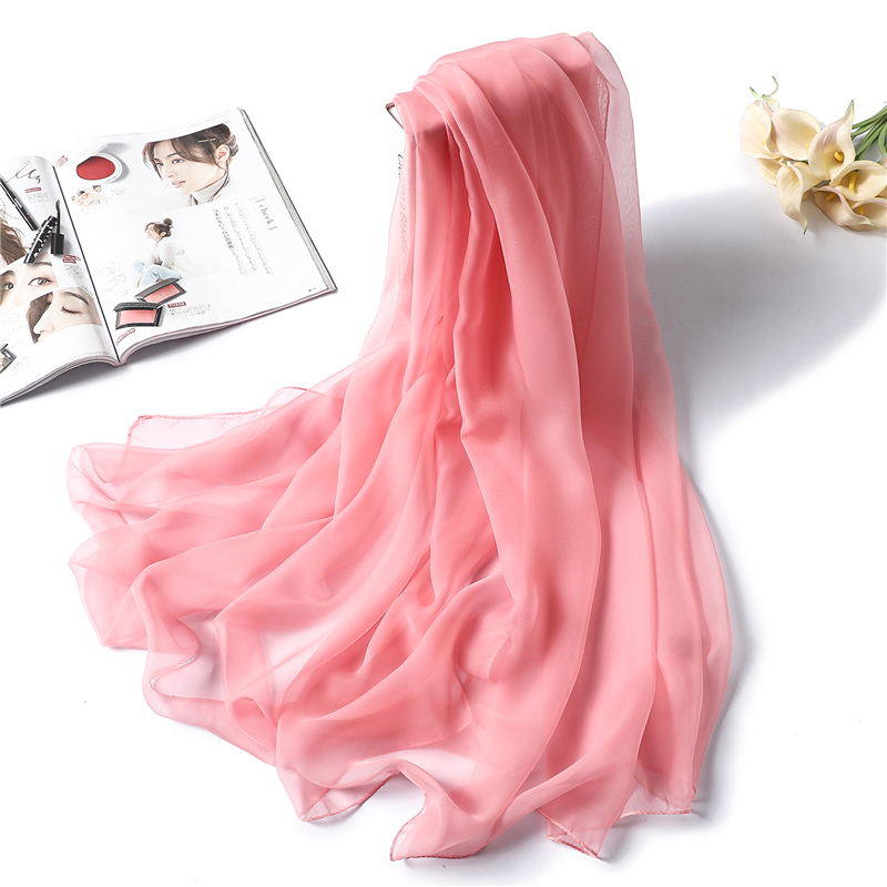 2020 New Spring Summer Women Scarf Fashion Solid Classical Large Size Lady Silk Scarves Hijabs Foulard Female Beach Stoles