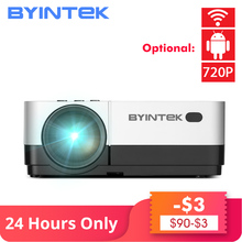 BYINTEK SKY K7 1280x720P 1080P Android WIFI LED Mini Micro Portable Video HD Projector with HD USB For Game Movie Home Theater стоимость
