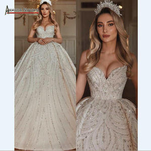 Image 1 - 新モデルビーズウェディングドレスカスタムオーダープロのドレス