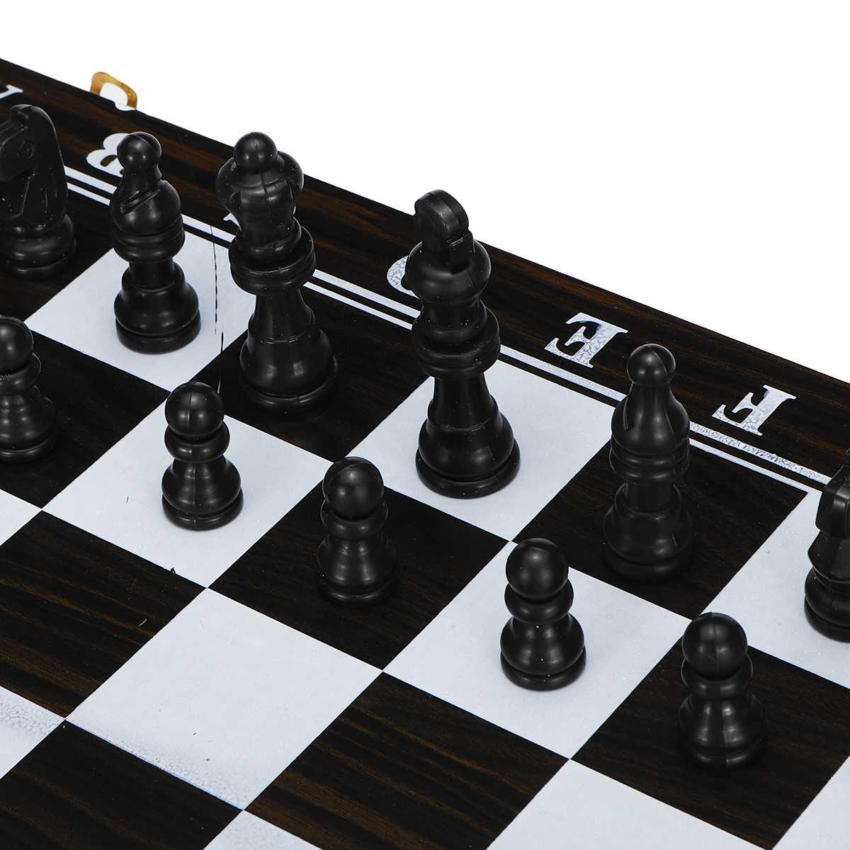 3 in1 jogo de xadrez de madeira