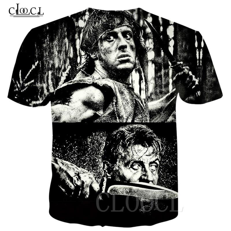 Rambo T Shirt Tees Men Women 3D Printed Last Blood Short Sleeve Cool T Shirt Sweatshirts Casual Fashion Streetwear Pullovers Top 1