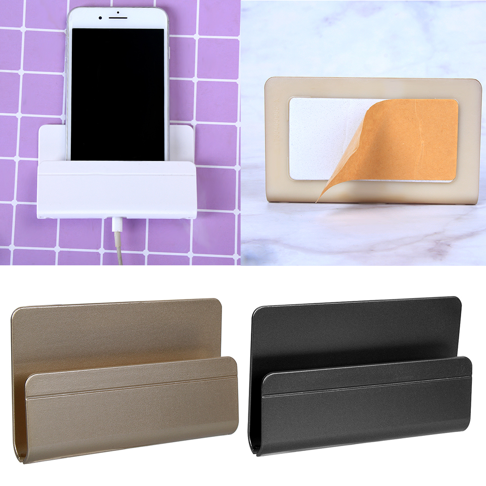 Useful Mobile Phone Wall Charger Adapter Charging Holder Hanging Stand Bracket Support Charge Hanger Rack Shelf Cell Phone Hook