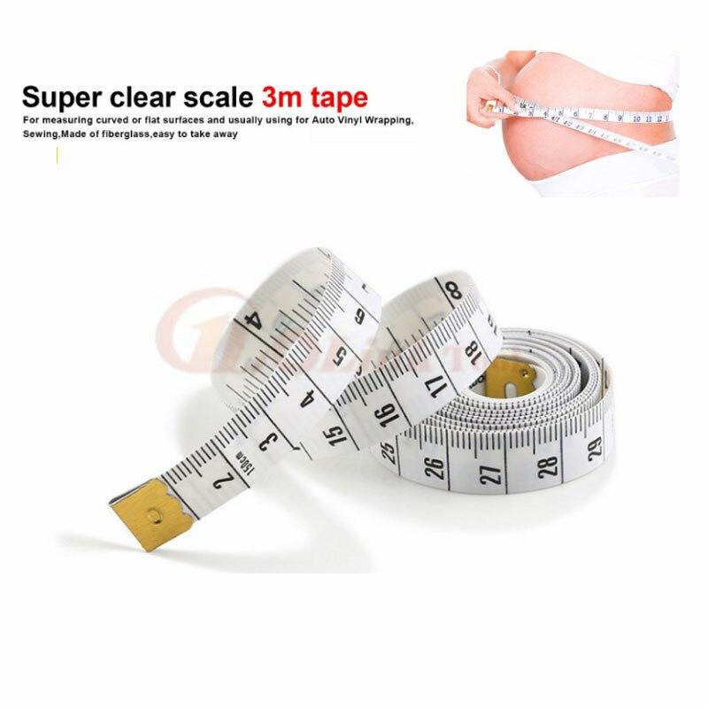 Высокое качество Прочный мягкий 3 м 300 см пошив по индивидуальному заказу ленты для тела измерения измерить линейкой пошив инструменты