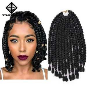 Roots/Pack Hair-Extension Braids Crochet Spring Sunshine Bulk Synthetic Black 12 Bug