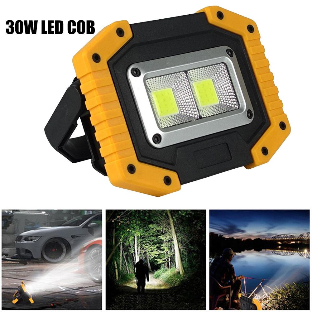 30W LED COB Work Light Portable Spotlight USB Rechargeable Camp Emergency Lamp