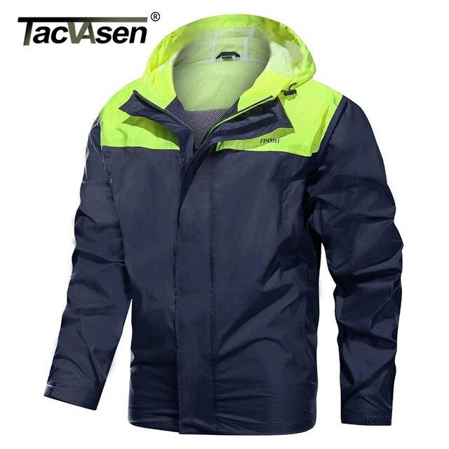 TACVASEN Men's Hooded Lightweight Rain Jacket 1