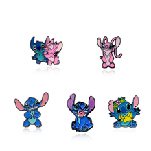 Cartoon Anime Lilo & Stitch Alloy Tie Pin Badge Para Shirt Bag Clothes Hat Backpack Shoes Brooch Medal Decoration universe boy anime funny pins medal brooches for women men shirt hat clothes backpack decoration badge jewelry j0804
