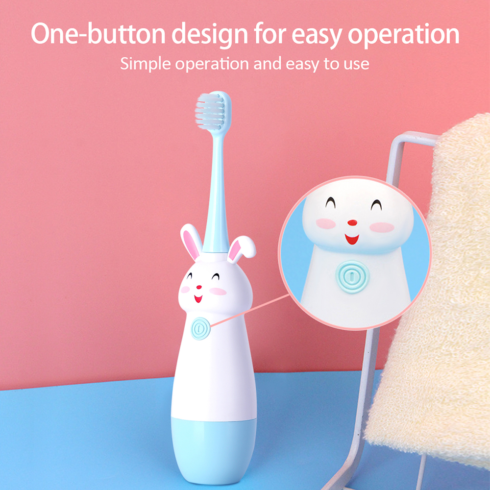 Fashion Children Sonic Electric Toothbrush Cartoon Pattern Electric Teeth Tooth Brush For Kids With Soft Replacement Head Cute