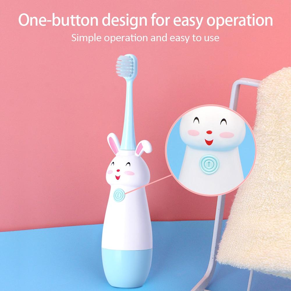 Yeni sıcak çocuk elektrikli diş fırçası karikatür desen diş fırçası elektrikli diş diş fırçası çocuklar için yumuşak yedek kafa