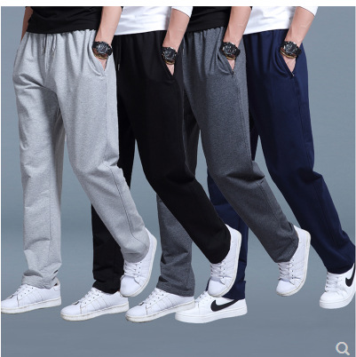 Men Europe And America Casual Straight-leg Pants 2019 Autumn New Style Large Size Loose-Fit Sweatpants Casual Sports Pants Fashi