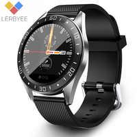 Reloj inteligente Lerbyee GT105 Bluetooth impermeable Monitor de ritmo cardíaco presión arterial Smartwatch hombres mujeres llamada recordatorio Color pantalla cronómetro alarma reloj deportivo negro gran venta para iOS Android