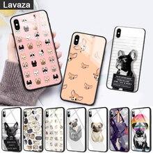 WEBBEDEPP Cute little animal pug doodle Glass Phone Case for Apple iPhone 11 Pro X XS Max 6 6S 7 8 Plus 5 5S SE