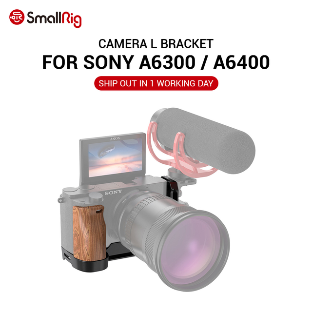 SmallRig A6400 L צלחת A6300 L סוגר עבור Sony A6400 ו A6300 תכונה עם QR שחרור מהיר Arca סגנון צלחת APL2331