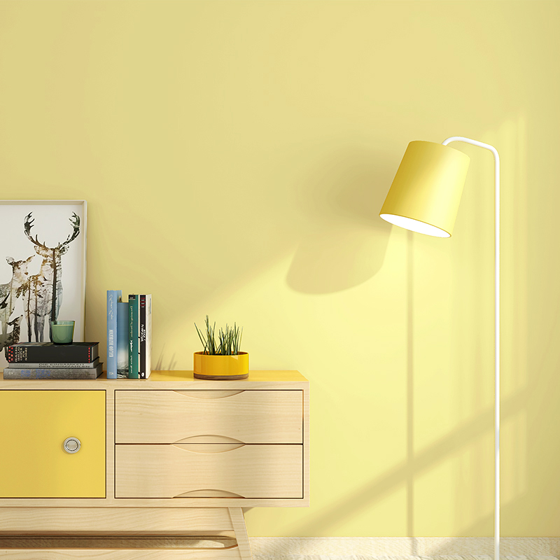 Yellow Wallpaper Pure Color Color Living Room Bedroom Restaurant Modern Minimalist Nordic Warm Yellow Tv Background Wall Paper Wallpapers Aliexpress