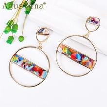 2020 Bohemian Geometric Fashion Earrings For Women Dangle Earrings Jewelry Acrylic Drop Earrings Round Punk Earing wholesale New