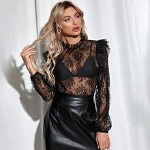 Женский кружевной топ женская футболка весна 2021 модный пикантный
