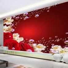 Beibehang Custom wallpaper photo red beautiful dream