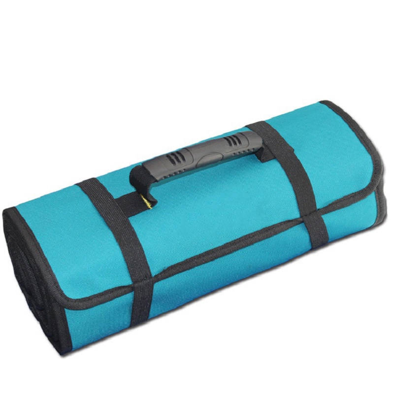 Urijk 1Pcs Hardware Tool Bag New High Quality Oxford Canvas Reel Roll Type Portable Screwdriver Roll Bag Electrician Tools Bag