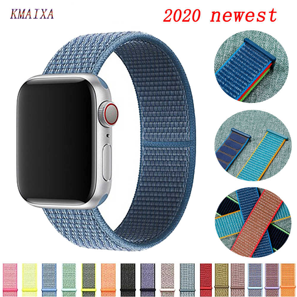 Strap für Apple Watch Band 44 mm 40mm nylon armband armband correa pulseira apple watch serie 5 4 3 2 iwatch band 42mm 38mm