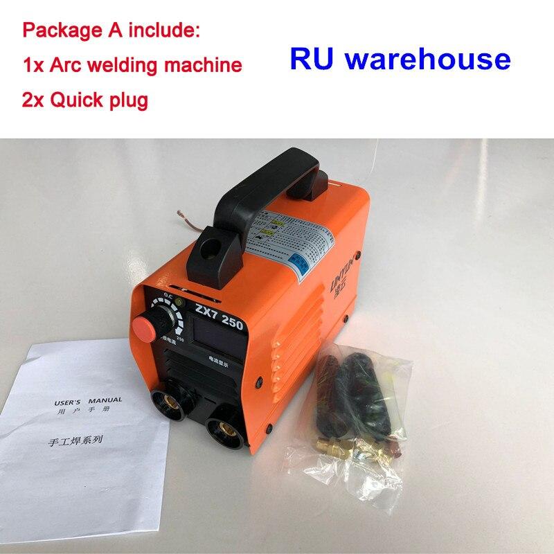 Ru lieferung 220V Kompakte Mini MMA Schweißer Inverter ARC Schweißen Maschine Stick Schweißer