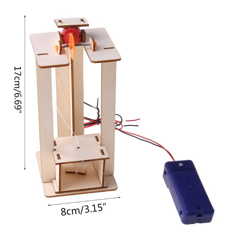DIY elevador eléctrico elevador modelo niños niño juguetes ciencia experimento rompecabezas Kits innovación creativa educación para la escuela