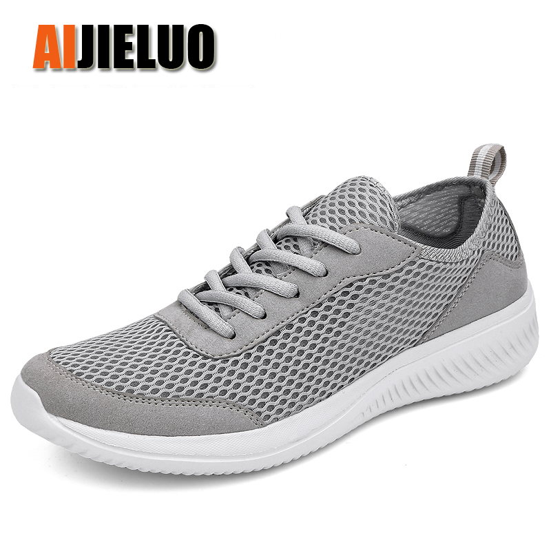 Summer Lightweight Running Shoes Men Mesh Breathable Men Sneakers Outdoor Sport Walking Shoes Size 39-48 Joging Shoes