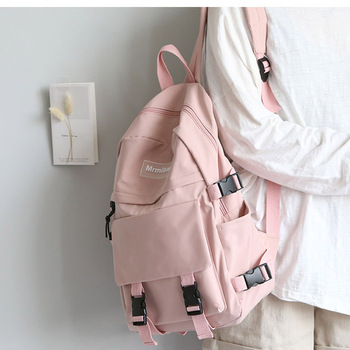 2020 New Large Capacity Women Backpack Fashion Schoolbag Backpack for Teenager Girls Female High School College Student Book Bag 2018 women s leather backpack monster fashion ladies schoolbag for teenager girls female cute backpack preppy casual backpack