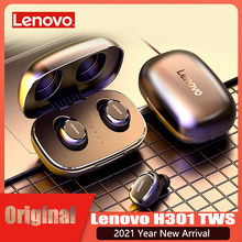 Oryginalne słuchawki bezprzewodowe Lenovo H301 TWS słuchawki Bluetooth Mini Touch Control sportowe słuchawki douszne z mikrofonem dla androida/IOS
