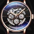 AILANG роскошные часы Мужские механические Автоматические часы швейцарская Шестерня AAA наручные часы Механические модные часы для отдыха диз...