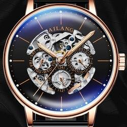 AILANG luksusowy zegarek męski automatyczny zegarek mechaniczny sprzęt szwajcarski AAA zegarki mechaniczny modny wypoczynek diesel zegarek