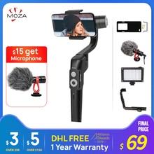 MOZA Mini S 3 Achse Handheld Gimbal Stabilisator für iPhone Huawei p20 Andriod PK MINI MI Vimble2 dji om4 telefon stabilisator