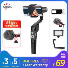 موزا Mini S 3 Axis يده مثبت Gimbal آيفون هواوي p20 Andriod PK MINI MI Vimble2 dji om4 مثبت الهاتف