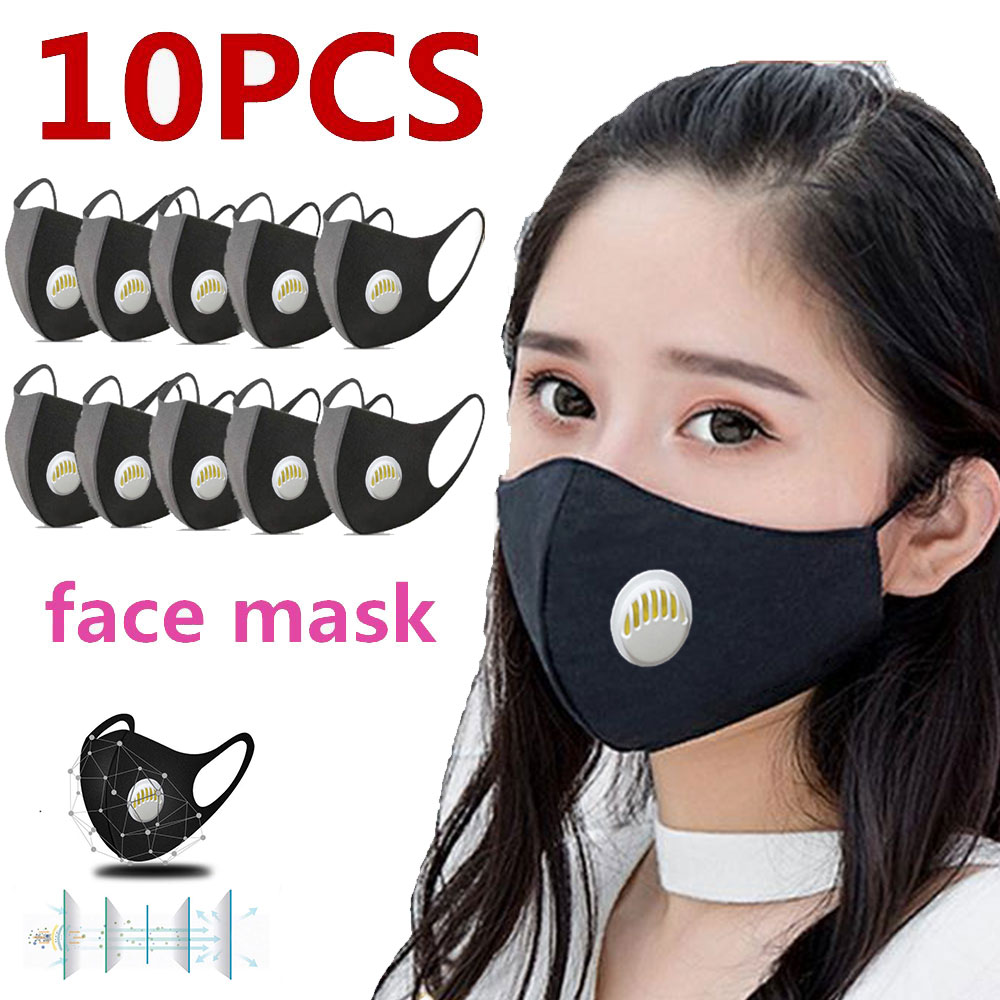10 Pcs Cotton Face Mask Washable Respirator Mouth-muffle Anti Dust PM2.5 Mouth Mask Filters Anti Pollution Breathable