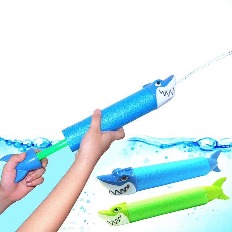 Summer Water Toys EVA Water Pistol Blaster Shooter Pumping Sprayer Shark Crocodile Water Gun Toys For Children Summer Pools Toys