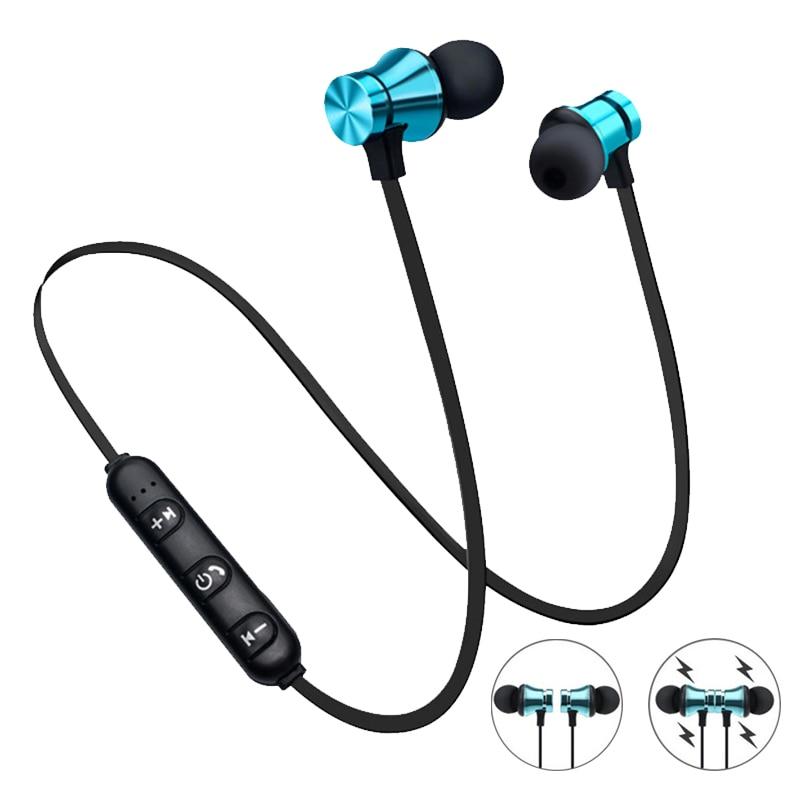 Magnetic Wireless Headphone Bluetooth Earphone Headset Neckband Sport Running Earphones With Mic For IPhone 7 Xiaomi 8 Earphone