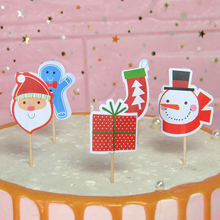Omilut 18pcs Merry Christmas Cupcake Topper Snowman / Gift Sock Biscuits Birthday Cake Supplies