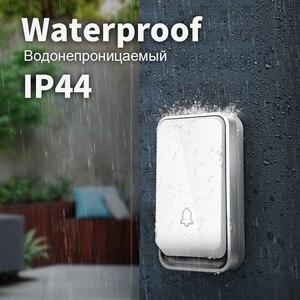 Image 4 - ZOGIN kapı zili Ev Su Geçirmez Akıllı Kablosuz Kapı Zili No Batte Akülü Halka Dong Çan House Çağrı tını casa çağrı düğmesi