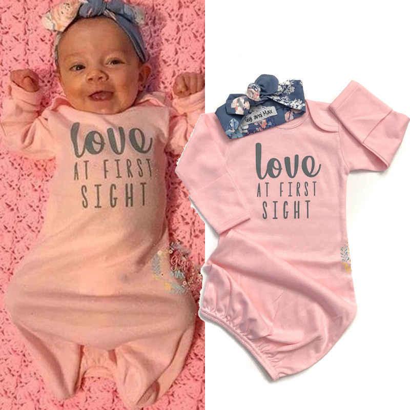 Спальный мешок для ног + повязка на голову, цветочное одеяло, розовый набор пеленок для маленькой девочки, с надписью Love, в первый раз, детские одеяла спальные сумки
