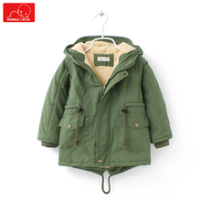 children winter parkas coat boys girls plush hooded jacket kids cotton warm clothing child fashion outerwear стоимость