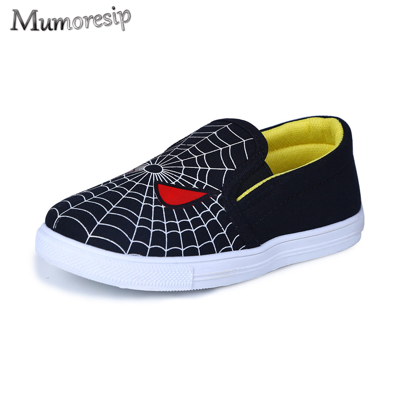 Children Shoes For Boys Kids Spiderman Shoes Little Boy Toddlers Flats Sports Running Sneakers Spider-man Halloween Canvas Shoe