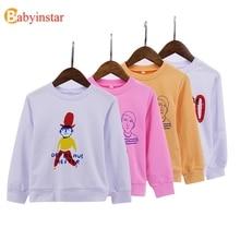 Fashionable Sweatshirt For Girls Boys Cute Letters Print Childrens Sweatshirts Cartoon Kids Costume Clothing