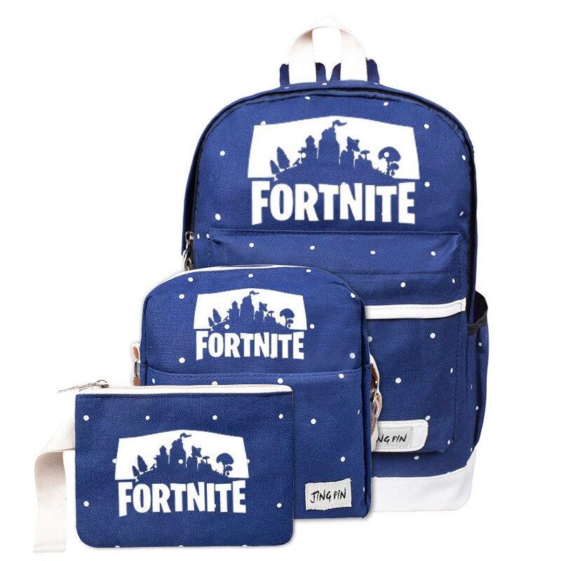 Unisex Men Backpack Fortnites Game Knapsack Women Canvas Schoolbag High Capacity Rucksack Student Bookbag Kid Child Travel Bag