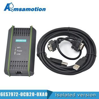 цена на USB Programming Cable PC Adapter For Siemens S7-200/300/400 PLC RS485 Profibus MPI PPI Communication Replace 6ES7972-0CB20-0XA0