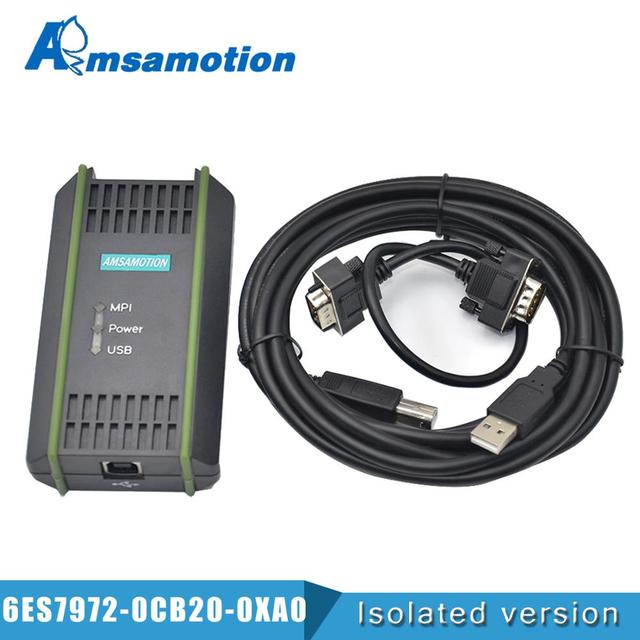 USB Programming Cable PC Adapter For Siemens S7 200/300/400 PLC RS485 Profibus MPI PPI Communication Replace 6ES7972 0CB20 0XA0