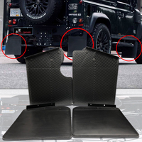 For land rover defend 90 Mudguard Front Rear Wheel Black Plastic Mud Flaps Mud Guard Car Fender