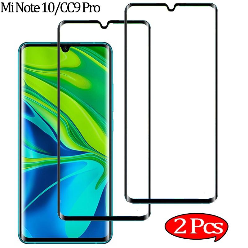 2 Pcs Screen Protector For Xiaomi Note 10 Tempered Glass Protection Mi Note10 Xiomi Mi CC9 Pro Glass Film Xiaomi Mi-Note-10